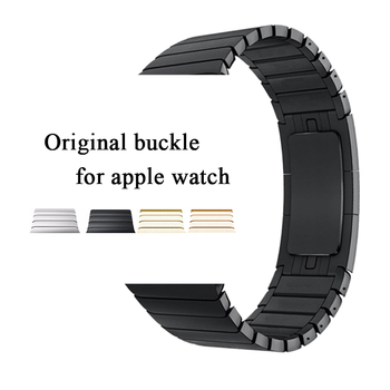 link bracelet strap for apple watch band apple watch 4 3 5 iwatch 42mm 38mm 44mm 40mm 3 2 1 stainless steel metal watchband stainless steel band for apple watch series 3 2 classic buckle with adapter link bracelet watchband strap for iwatch 42mm 38m
