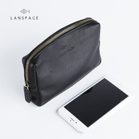 LANSPACE men's leather wallet fashion coin purses holders famous brand purse