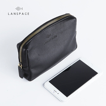 LANSPACE men's leather wallet fashion coin purses holders fa