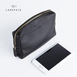 Image 1 - LANSPACE skórzany portfel męski modne portmonetki znane marki torebka