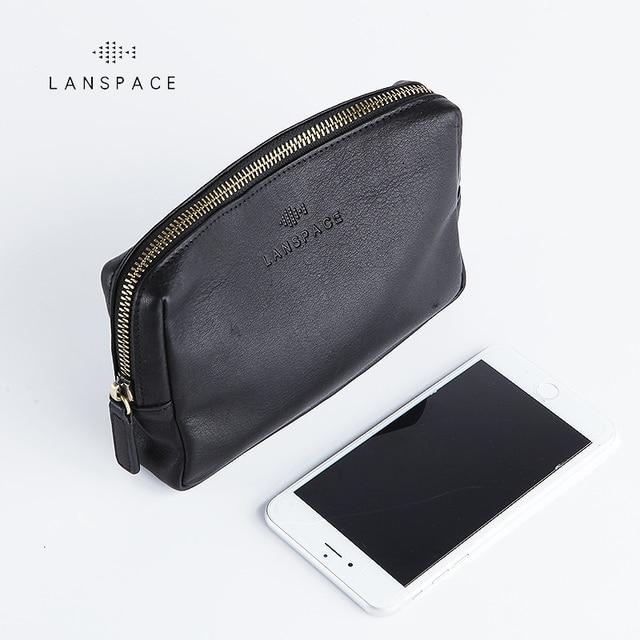 LANSPACE skórzany portfel męski modne portmonetki znane marki torebka