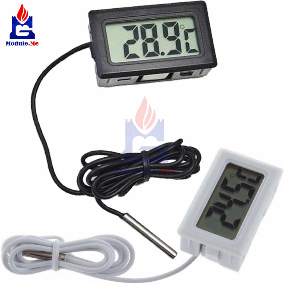 1M 100 Cm Mini Digital LCD Display Probe Kulkas Freezer Termometer Sensor Termometer Thermometer untuk Aquarium Kulkas Kit