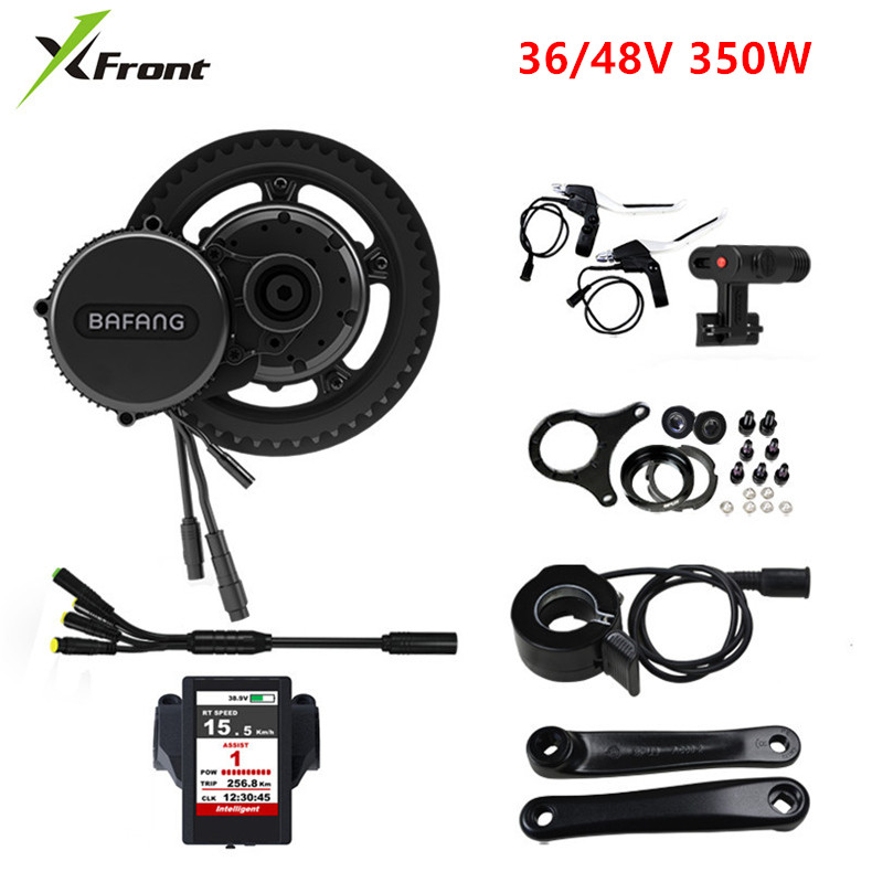 New Bafang bbs01B 36/48V 350W Ebike Electric bicycle Motor 8fun drive Electric bicycle conversion kit C850 Color Display Engine