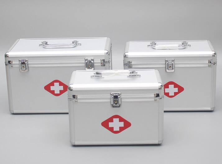 Family multi-layer medicine storage box emergency medical treatment emergency medicine medical box new gbj free shipping home aluminum medical cabinet multi layer medical treatment first aid kit medicine storage portable