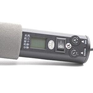 Image 2 - Estación de soldadura de BGA refundido portátil 8018lcd, soplador de aire caliente, secador de pelo, herramienta de soldadura, 220V, 450W, ajustable