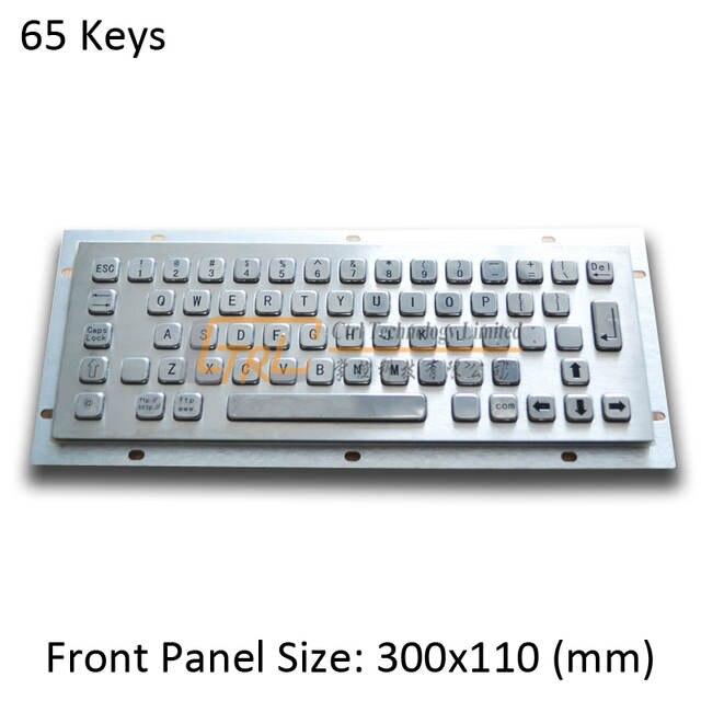 US $90 0 |Standard Metal Keyboard, 65 keys USB/PS2 kiosk keyboard, metallic  industrial keyboard, standard kiosk keyboard-in Industrial Computer &