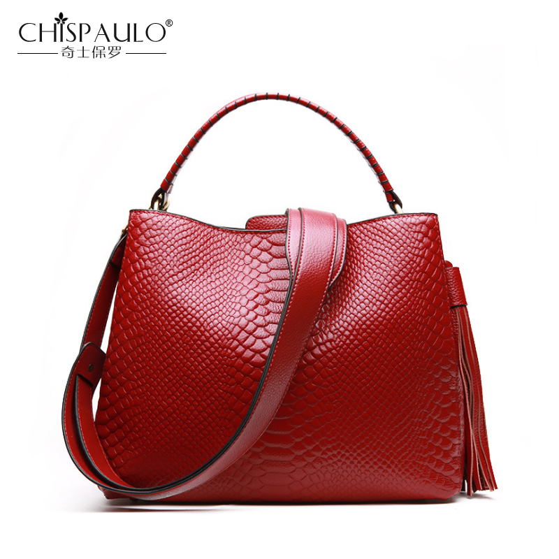 Genuine Leather Women Bags Fashion Serpentine Ladies Handbags High Quality Natural Leather Shoulder Bag Female Casual Tote casual genuine leather handbags ladies high quality real leather tote shoulder bags for women black fashion diagonal bags