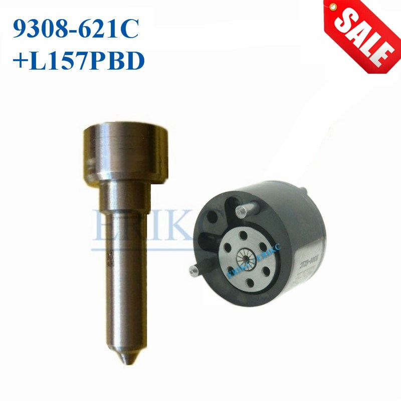 ERIKC Valve 9308-621C Nozzle L157PBD L157PRD Repair kits 7135-650 Injector 28440421 Valve 28239294 for EJBR04701D / EJBR03401D erikc l157pbd dsla148fl157 diesel fuel injection nozzle auto engine common rail spare parts sprayer l157prd for ejbr03401d