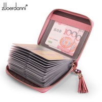 Fashion Zipper Card Bag Large Capacity Leather Women Business Card Holder Women S Credit Card Package