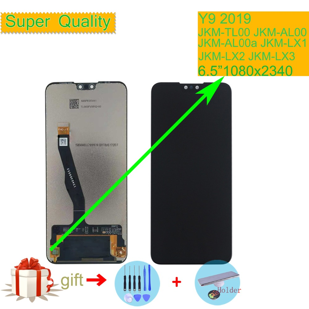 ORIGINAL For Huawei Y9 2019 LCD Display Touch Screen Assembly With Frame JKM TL00 JKM AL00