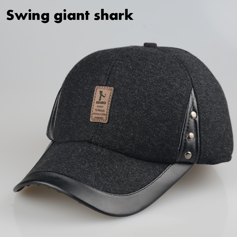 warm winter spring baseball cap with ears hat hats men cotton earmuffs big over in or out