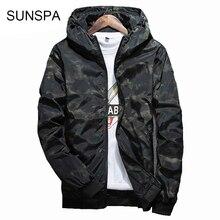 SUNSPA 2017 Spring Autumn Mens Casual Camouflage Hoodie Jacket Men Waterproof Clothes Men s Windbreaker Coat