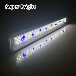 Image 3 - Nicrew Iluminación Led ultradelgada de aleación de aluminio para acuario, iluminación LED de 6500 7500K para acuario, 12W 24W