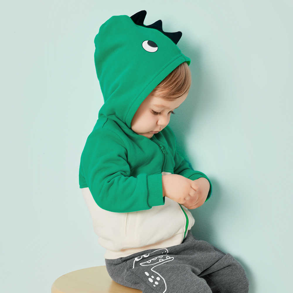 Chaqueta para bebés Otoño Invierno niños Niños Infantes estilo suave con capucha chaquetas lindas niños abrigos de algodón moda prendas de vestir exteriores ropa para niño