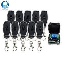 Obo interruptor de controle remoto, sem fio, porta de dc12v 1ch, canal 315/433mhz para controle de acesso à porta elétrica sistema 30m