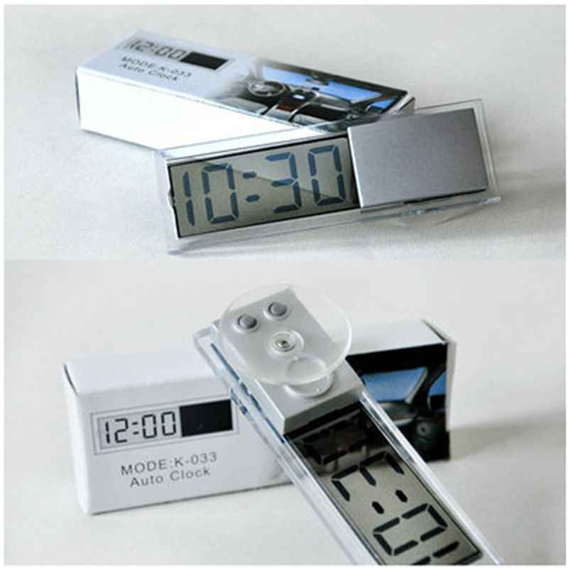 1 Pcs Mobil Baru Jam Elektronik Liquid Crystal Display LCD Mobil Timer Digital Jam dengan Suction Cup Hot Jual
