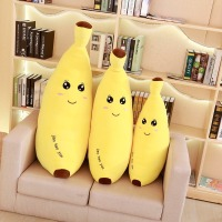 60/80 Cm Soft Cartoon Banana Plush Toy Super Soft Stuffed Fruit Banana Pillow Cushion Toys For Children