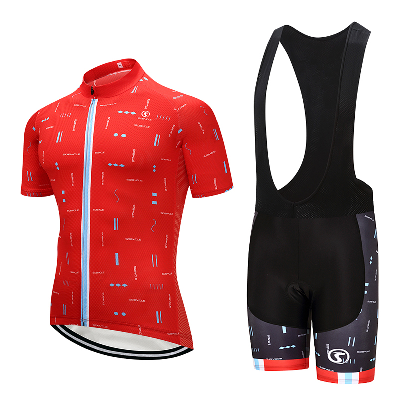 2018 UCI Tour cycling team Jersey 9D gel pad bibs shorts sobycle brand Red bike shirts cycling wear Maillots Ropa Ciclismo