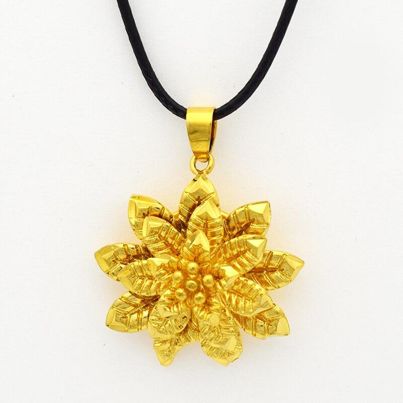 2016 Gold Mandala Rose Indian Flower Pendant Necklace,Fashion ...