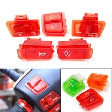 5 шт./лот, мотоциклетный головной светильник, рожок, диммер, сигнал поворота, стартер, один переключатель, кнопка для GY6 50CC 125CC 150CC, мопед, скутер