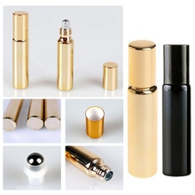 Essential Oil Bottles 5ml/10ml Roll On Stainless Steel Roller Ball Massager Eye Cream Perfume Refillable Empty Bottle