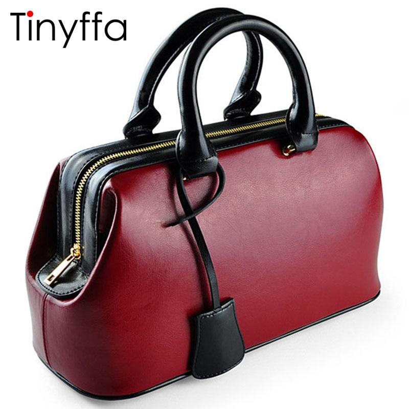 Tinyffa Famous Brand Women Handbag Genuine Leather Bag Female Purses And Handbags Ladies Luxury Designer Tote Bag sac a main