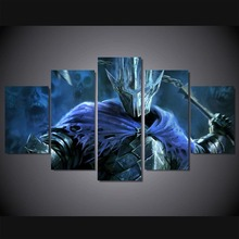 Home Decor Prints Painting 5 Pieces Lord Of The Rings Pictures Movie Wall Art HD Modular Canvas Poster Bedside Background Frame