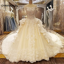 LS66323 special wedding dresses lace ball gown short sleeves corset back wedding gowns 2017 robe de mariage real photos