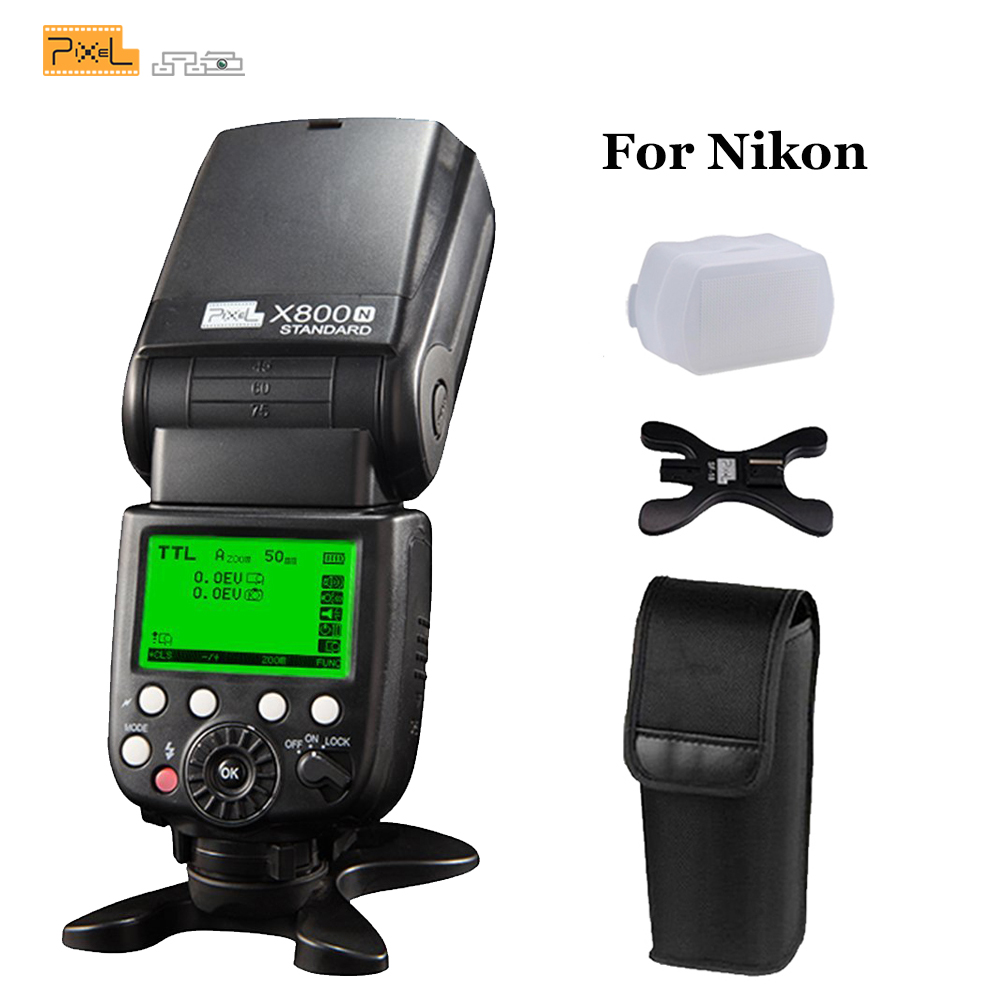 Pixel X800N Standard Wireless TTL 1/8000S HSS Flash Speedlite Light for Nikon D7100 D7000 D5100 D5000 D3200 D600 DSLR Cameras бра arte lamp charm a2083ap 1ab