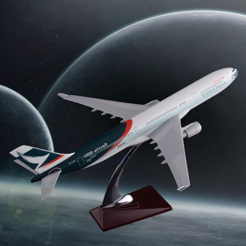 40cm Airbus A330 Cathay Pacific Airways Model Resin 100th Aircraft Airplane Aviation International Airbus Model Decoration Gift new phoenix 11207 b777 300er pk gii 1 400 skyteam aviation indonesia commercial jetliners plane model hobby