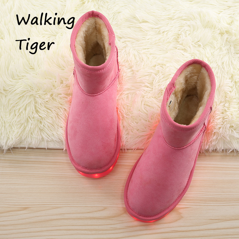 Snow boots for girls shoes winter 2017 breathable girl shoe with led light kids shoe with flashing lights boot children fashion kelme 2016 new children sport running shoes football boots synthetic leather broken nail kids skid wearable shoes breathable 49