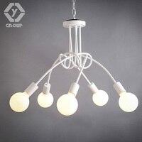 OYGROUP Simple Creative Black & white & Red E27 lampa sufitowa rocznika osobowość nowoczesne krótkie oświetlenie sufitowe led # OY16C08-5