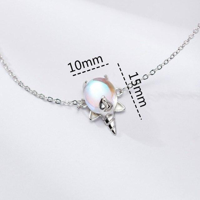 Silver Simple Moonstone Unicorn Bracelets