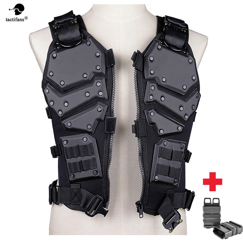 Transfoemers TF3 Tactical Vest Warrior High Speed Body Armor Hunting Paintball Protective Carrier Vest with 5.56 Fast MAG Pouch