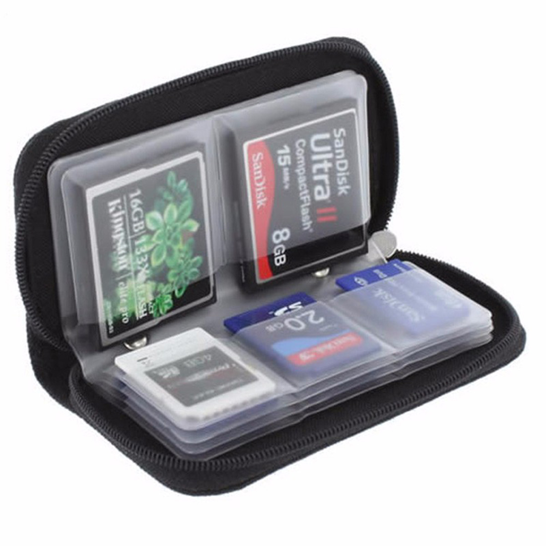 NOYOKERE 1pcs High Quality Memory Card Storage Carrying Case Holder Wallet For CF/SD/SDHC/MS/DS Container-in Memory Card Cases from Computer & Office