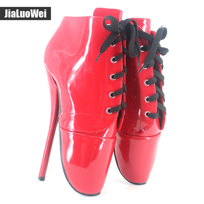 Jialuowei Wholesale 18cm /7 Spike High Heels Lace up Pointed Toe Pump cowboy Canvas sexy Fetish high heel BALLET Ankle Boots neck therapy instrument lcd display body massage relax acupuncture relieve pain meridian therapy relief fatigue health care