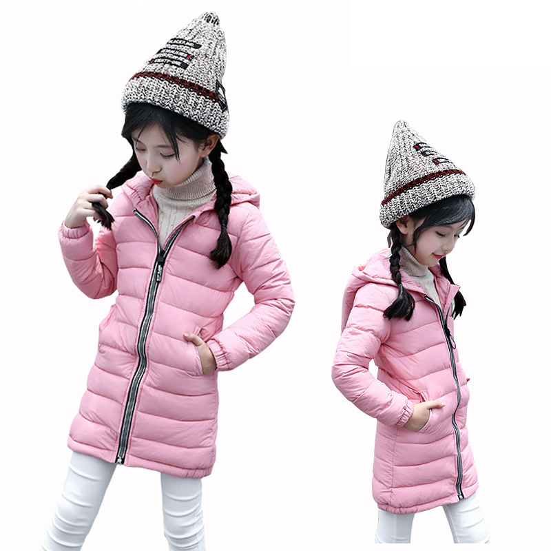 Girl Jackets Coat for Winter Baby Girl Down&Parkas Long Warm Children Winter Clothing Outerwear&Coats Duck Down Jacket Hooded girls down coats girl winter collar hooded outerwear coat children down jackets childrens thickening jacket cold winter 3 13y