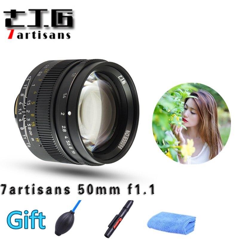 Original 7 artesanos 50mm F1.1 montaje M lente fija Leica M Cámaras con montura M-M M240 M3 M6 m7 M8 M9 M10