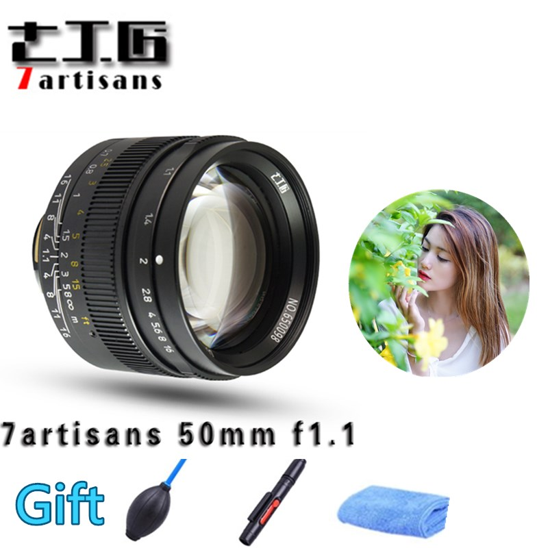 Original 7artisans 50mm F1.1 M Mount Fixed <font><b>Lens</b></font> for Leica M-Mount Cameras M-M M240 M3 M6 M7 M8 M9 M10 image