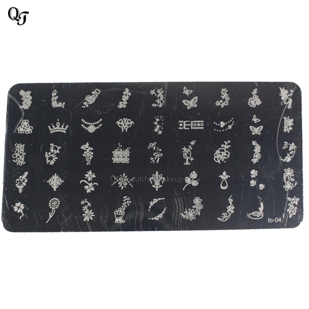 Beautiful Max Flowerbutterflycrown Design Nail Art Stamping Plates