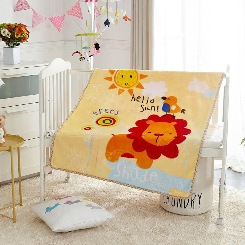 Newborn Baby Thickening Comfortable Warm Cartoon Cloud Blanket Coral Velvet Baby Blanket Swadding Four Seasons Available