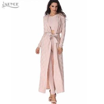 runway jacket apricot plaid Wide waisted Cardigan elegant lady robes Open Stitch Celebrity bandage cloak