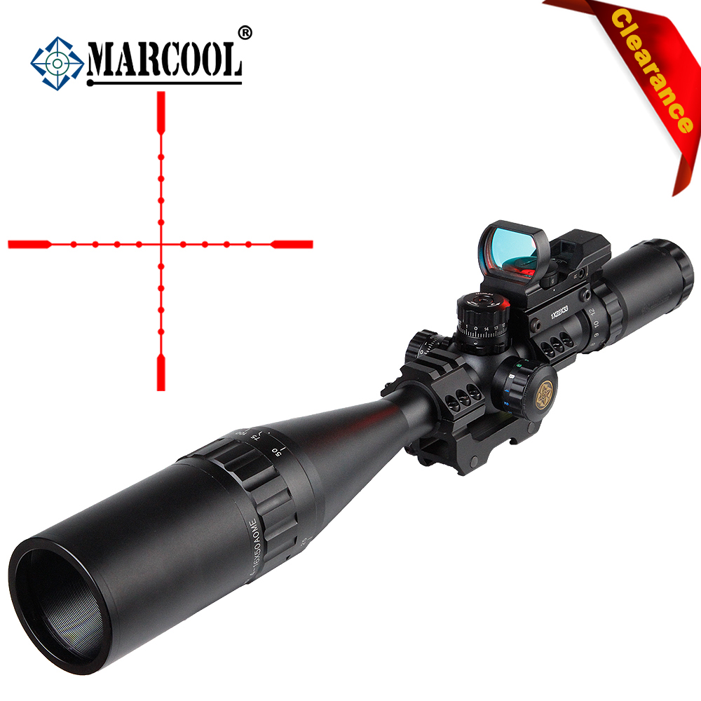 Marcool 4-16x50 AOIRGBL Optical Aim Collimator Sight Luneta Para Airsoft Air Guns Rifle Scope Weapons Red Dot For Hunting