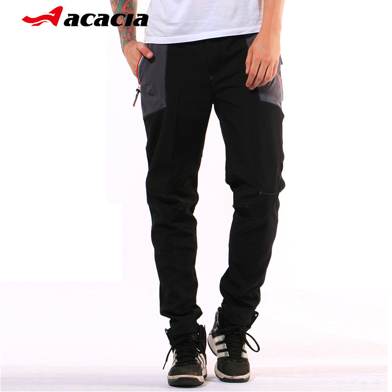 ACACIA Mens Mountain Bike Cycling Bicycle Long Pants Trousers Night Safety Warm Winter Men Bike Pants santic cycling pants road mountain bicycle bike pants men winter fleece warm bib pants long mtb trousers downhill clothing 2017