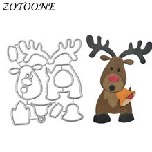ФОТО zotoone metal cutting dies new 2018 decoration embossing christmas reindeer frame paper craft dies scrapbooking nouveau arrivage