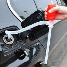 Портативный автомобильный ручной пластиковый шланг для перекачки газового масла, насос для перекачки топлива, бензина, дизельного топлива, красного цвета для жидкости