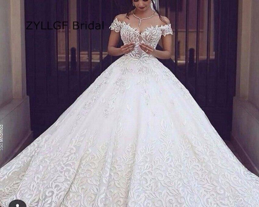 ZYLLGF Bridal Middle East Puffy Vestido De Novias Ball