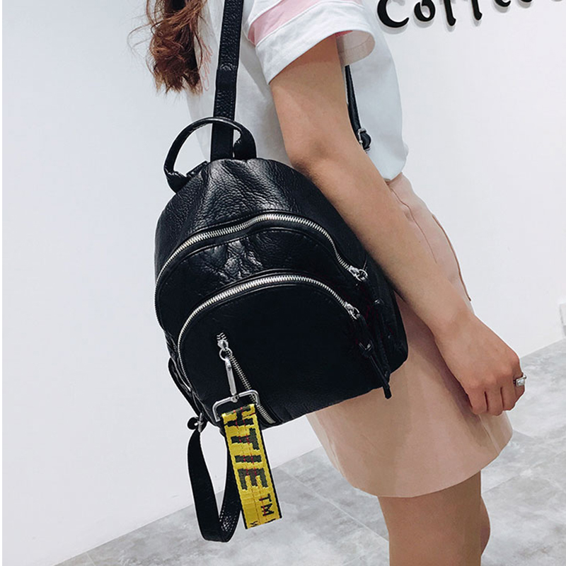 3 Colors Black 2018 Women Small PU Leather letter Backpack Ladies Simple Back Pack Female Backpack school bags For Teenage Girls women backpack black red fashion style school daypacks funny quality pu leather small shoulder bag teenage girl travel back pack