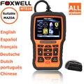 Scanner de diagnóstico para o carro mazda srs airbag reset ferramenta de diagnóstico obd2 foxwell nt510 completa do sistema de diagnóstico atualização online