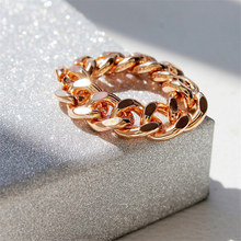 BOAKO Hot Unique Korean Style Chain Rings Men Gold /Silver Fashion Simple Punk Knuckle for Women Finger Ring anillos mujer